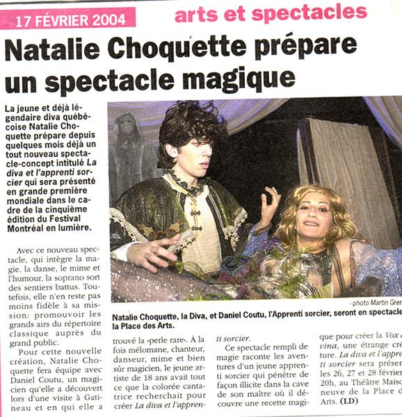 Spectacle avec Natalie Choquette